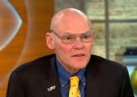 Volunteer Walt Jarrett saw James Carville in Terminal C